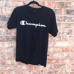 {Champion} Men's size Small tee | Black